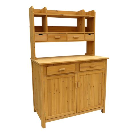 potting bench leisure season pbs4224 potting bench with storage atg stores