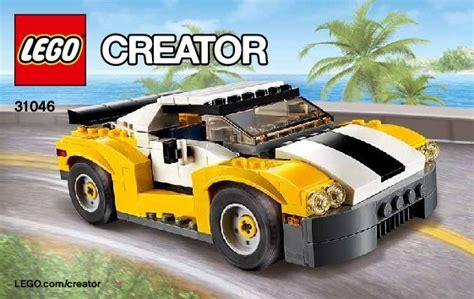 Lego Creator 3 In 1 31046 Fast Car Set Motorcar Truck Forklift Tractor bauanleitungen lego creator 31046 schneller sportflitzer