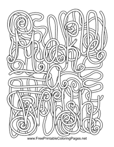 coloring pages with hidden words wish hidden word coloring page