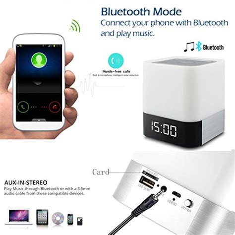 bluetooth speakers for bedroom night light bluetooth speakers wamgra all in 1 touch