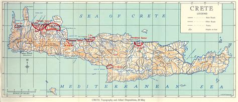 crete map map of crete nzhistory new zealand history