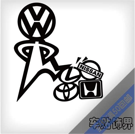 Vw Funny Sticker by Online Cheap Funny Vinyl Wrap Reflective Tape Car