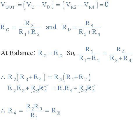 wheatstone bridge balanced condition wheatstone bridge circuit and theory of operation