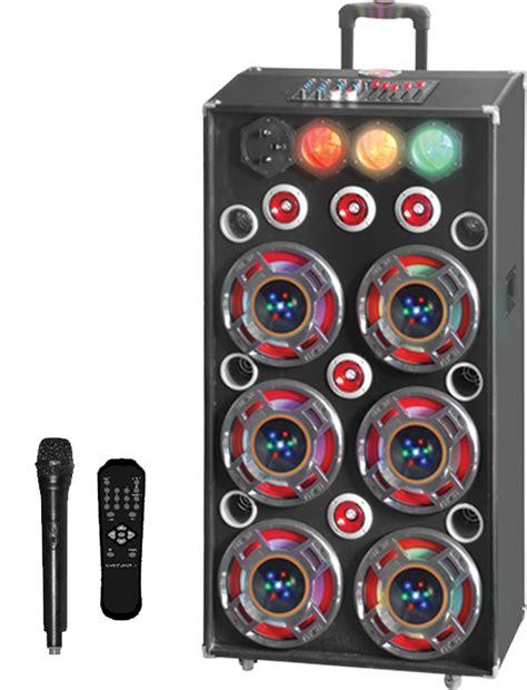 Pr Equalizer Coustic Ac 900 Usb Sd 6 x 10 211 4500w pa speaker w bluetooth usb sd fm eq traffic disco light consol ebay