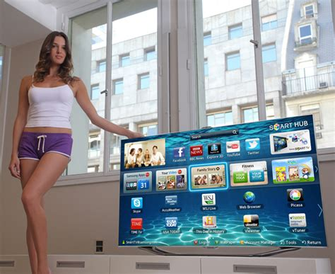 Tv Samsung New look don蠎t touch the new samsung smart tv yanko design