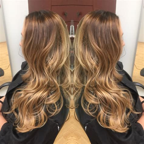 pictures of honey beige blonde hair light ash dark brown base with gold beige honey blonde