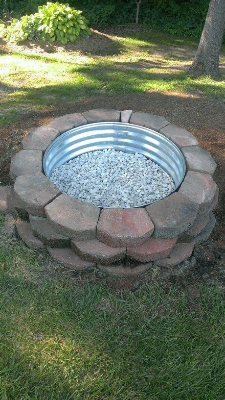 diy steel pit ring pit diy landscaping blocks metal ring marble white stones gardening landscaping