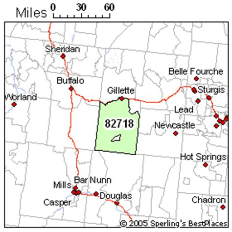 zip code map wyoming best place to live in gillette zip 82718 wyoming