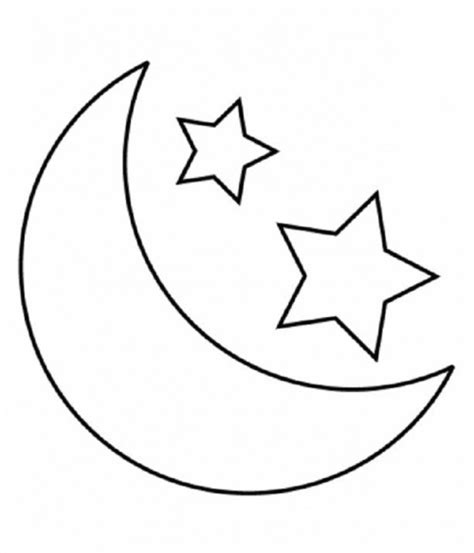 coloring pages of stars and moon free coloring pages
