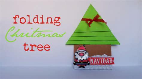 folding christmas tree scrapbook navidad