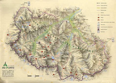 delle alpi marittime parco delle alpi marittime mappa di dettaglio