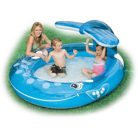 inflatable backyard pools intex inflatable whale spray pool outdoor pools