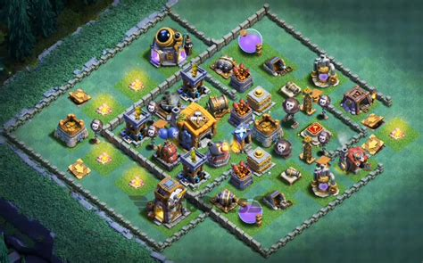 top 18 best builder hall bh6 base new anti 1 star clash of clans best town hall 7 defense base design top 50