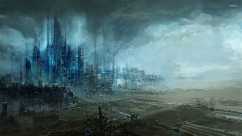 industrial wallpaper futuristic industrial area wallpaper fantasy wallpapers