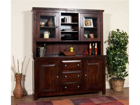 milieu park buffet and hutch dining room furniture set fairmont designs sunny designs dining room vineyard buffet and hutch 2428rm