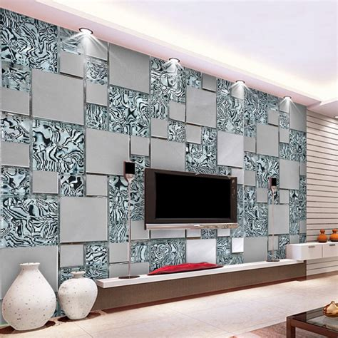living room cubes custom photo wallpaper 3d stereoscopic non woven abstract