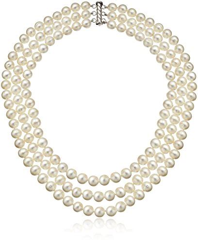Import Gagang Pearl Silver sterling silver 3 row freshwater cultured pearl strand import it all