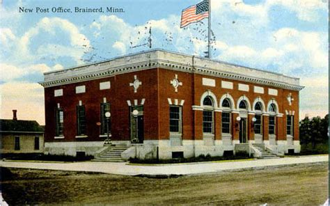 Brainerd Post Office postcards from wing county minnesota