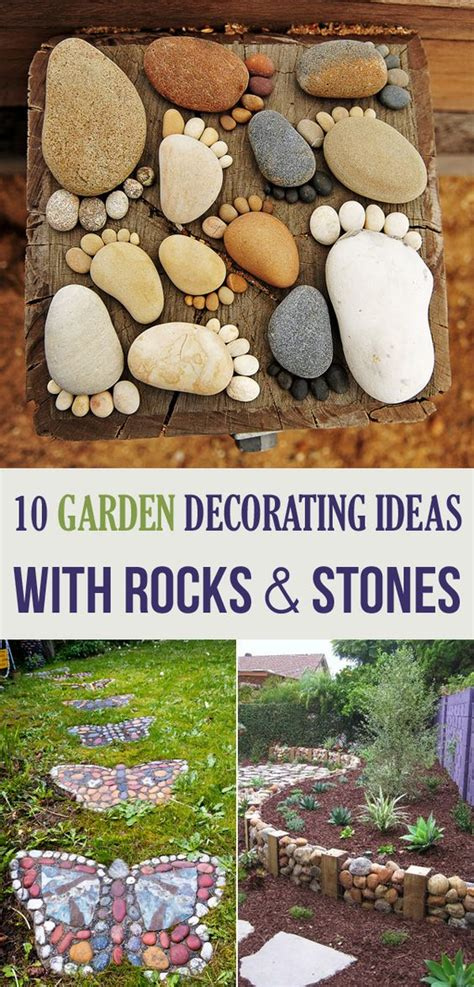 Garden Decor With Stones 10 Garden Decorating Ideas With Rocks And Stones Gardens Butterflies And Rock And