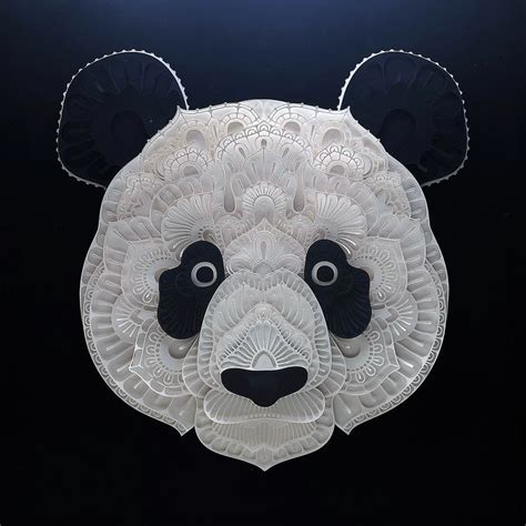 How To Make A Panda Out Of Paper - gorgeous endangered species series in cut paper brings