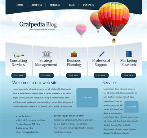 web layout best 40 beautiful and free business psd website templates