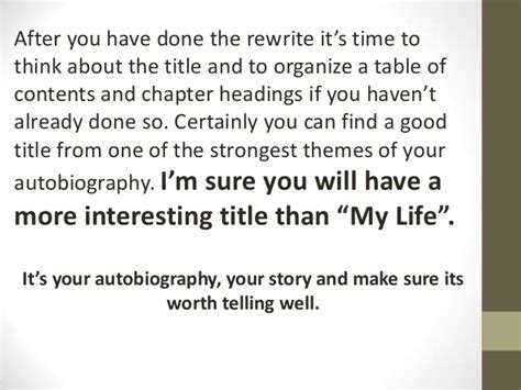 good biography title ideas an introduction to autobiography and biography