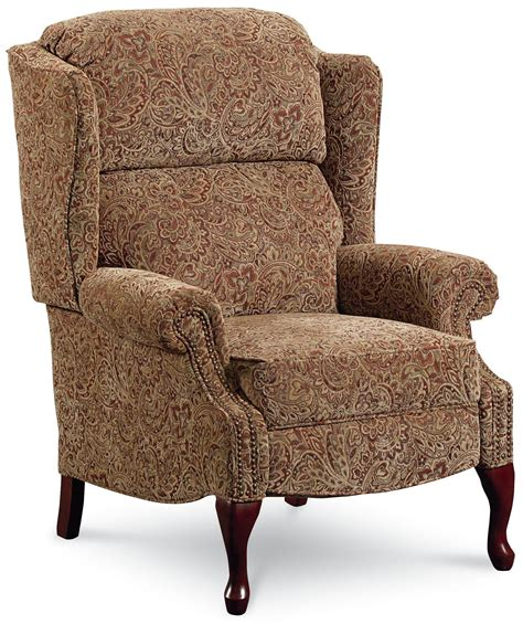wing back recliner chairs lane hi leg recliners savannah high leg wing back recliner
