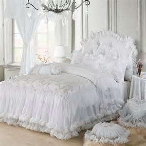 Cheap Ruffle Curtains White Luxury Girls Lace Ruffle Tulle Bowtie Jacquard Satin