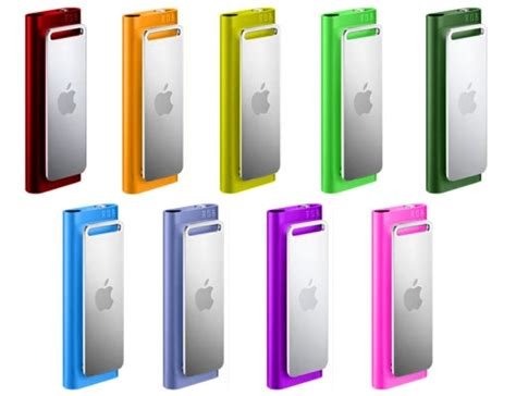 ipod shuffle 3g gets coated colors technabob