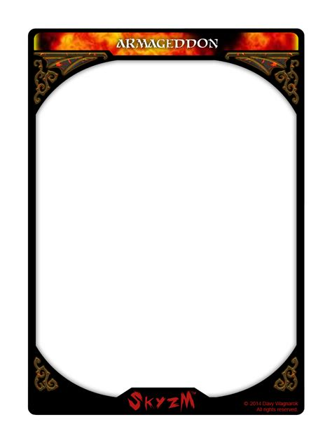 nine card page template png skyzm hoe hell armageddon card template by davywagnarok