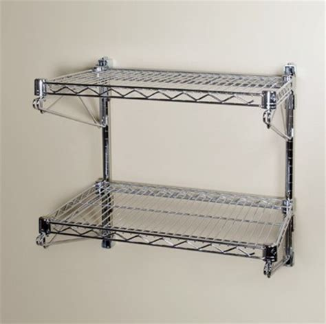 Wall Mount Wire Shelf by China 2 Shelves Wall Mounted Wire Rack China Wall