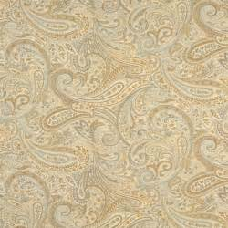 gold blue and bronze paisley contemporary upholstery grade