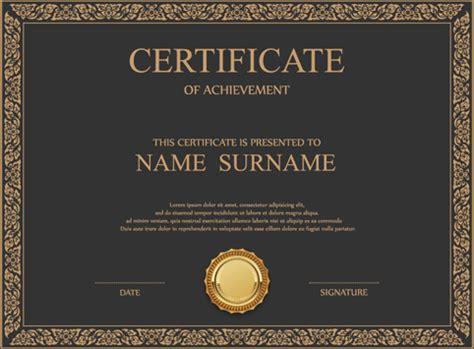 design certificate template ai coreldraw certificate template free vector download