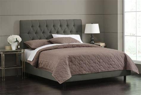velvet upholstered bed the stylish skyline tufted bed with velvet upholstery