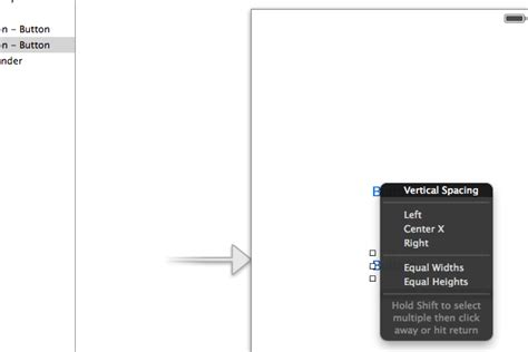 xcode vertical layout ios xcode interface builder auto layout vertical spacing
