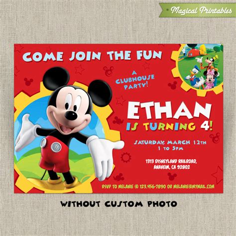 template mickey mouse clubhouse birthday party decorations plus