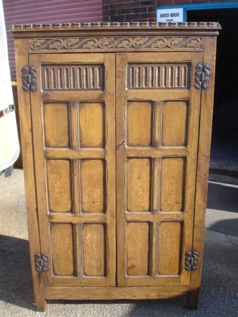 Antique Oak Armoire Wardrobe by Antique Carved Oak Wardrobe Armoire 155634