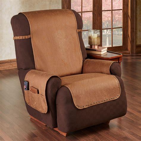 stonehill cognac faux leather slip resistant furniture