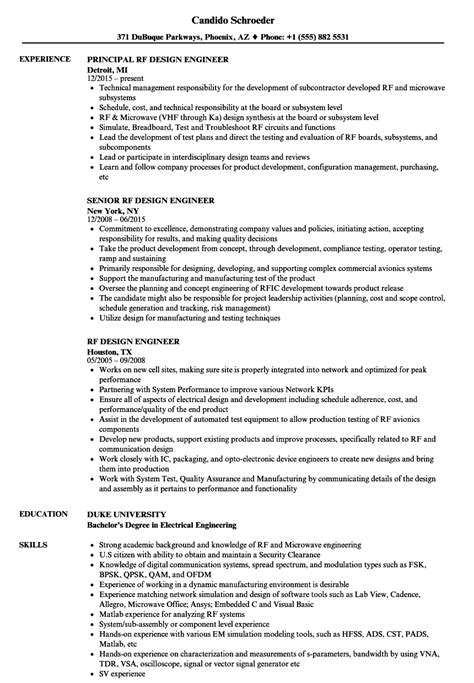 Rf Design Engineer Cover Letter by Rf Design Engineer Sle Resume Event Specialist Sle Resume Winning Cover Letters Sles