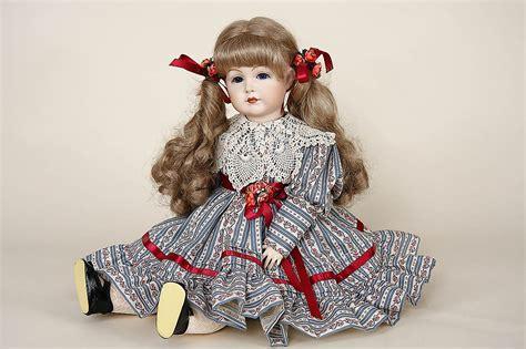5 porcelain dolls s and h repro 117 a 55 porcelain limited edition