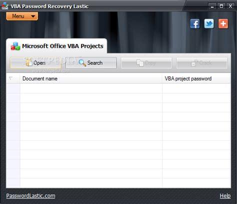 vba recovery password crack download vba password recovery lastic 1 1 build 1 1 0 3