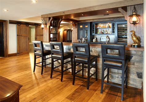 cost to redo home bar rustic with rustic basement bar