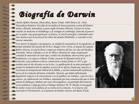 charles darwin biografia muy corta darwin