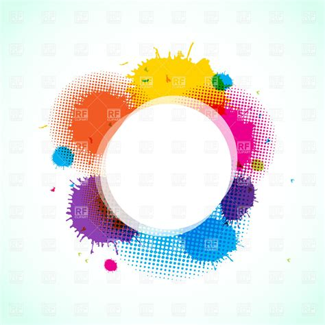 abstract frame with paint stains vector clipart image 21290 rfclipart