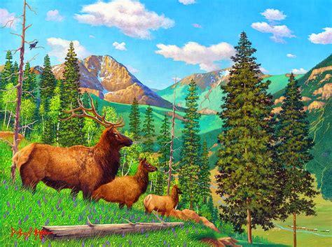 imagenes de animales y paisajes cuadros modernos pinturas y dibujos paisajes con
