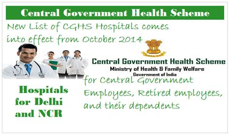 central government employees news latest new list of cghs hospitals comes into effect from october