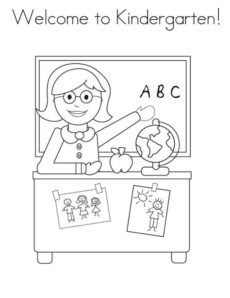 preschool coloring pages about school coloring pages school welcome to kindergarten on