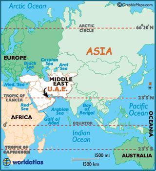middle east map dubai abu dhabi united arab emirates map geography of united arab