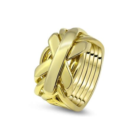 mens gold 7jg m puzzle rings creations
