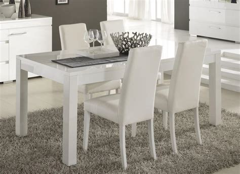 table salle a manger blanc laque conforama 39203 sprint co
